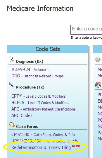 Medicare Redeterminiation Filing Date Calculator